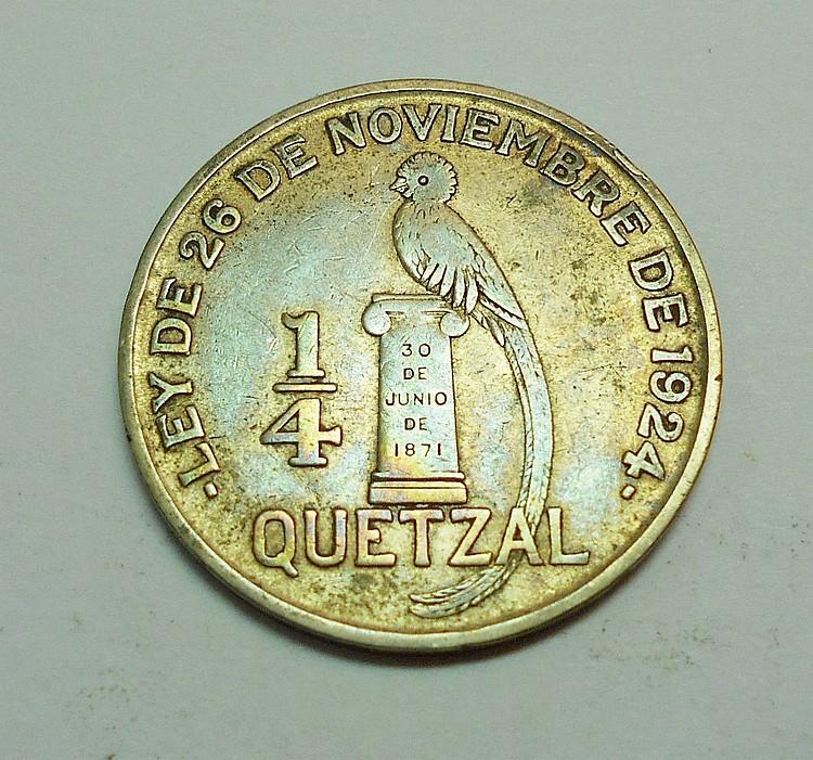 1926 GUATEMALA 1/4 QUETZAL