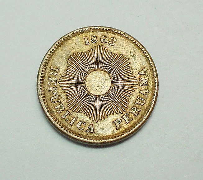 1863 PERU 1 CENTAVO