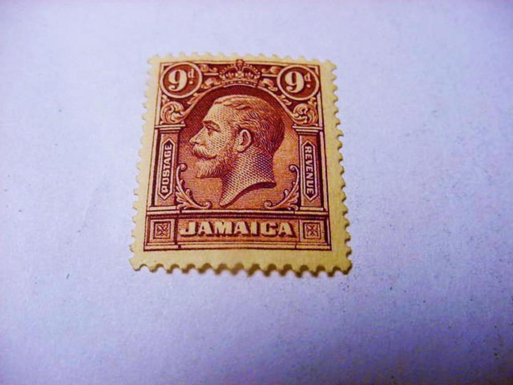 JAMAICA 9 PENCE STAMP