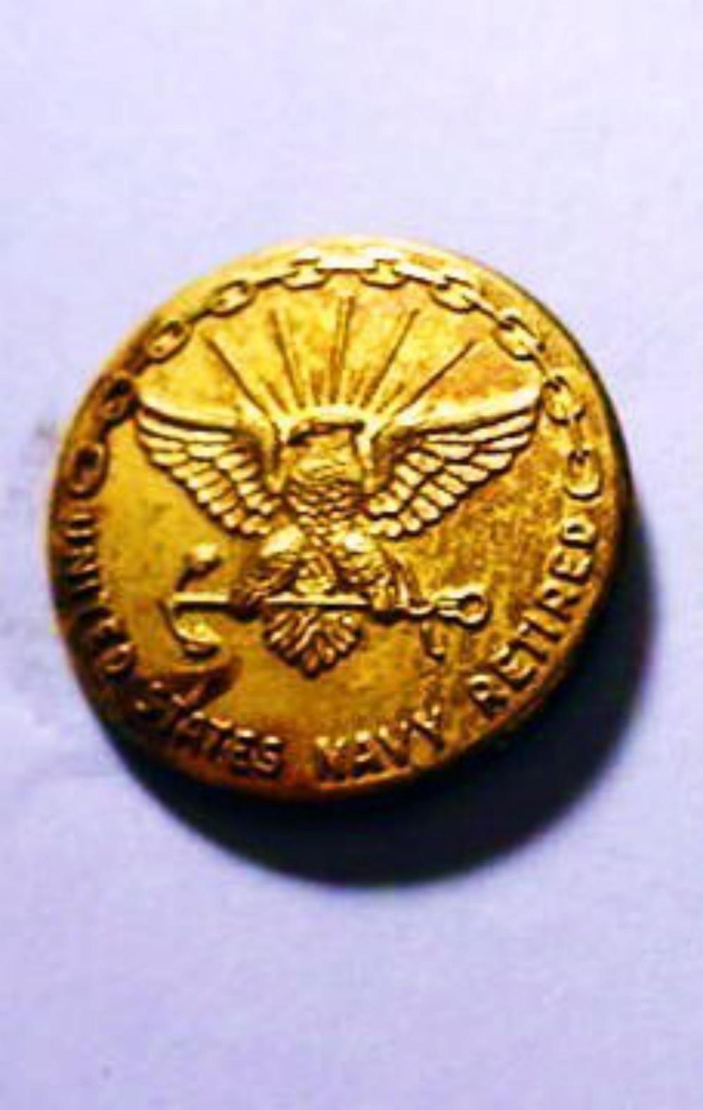 UNITED STATES NAVY RETIRED PIN