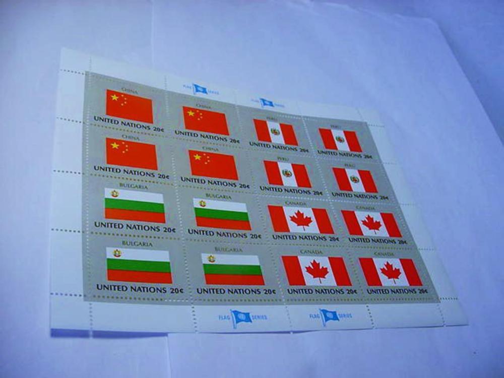 UNITED NATIONS FLAG SOUVENIR SHEET