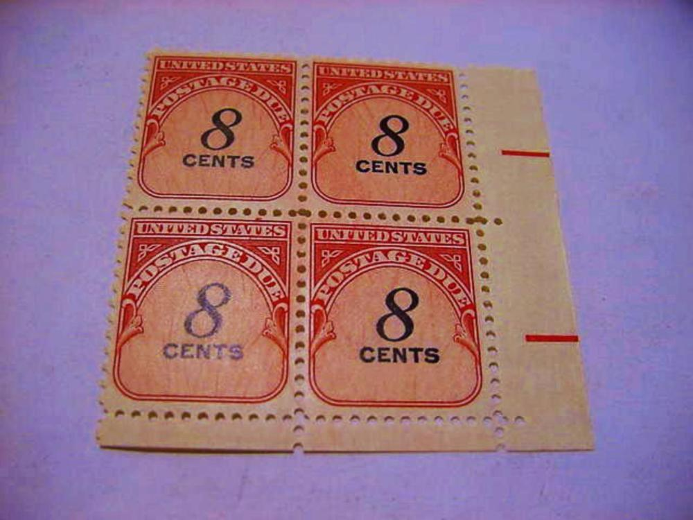 POSTAGE DUE BLOCK OF  4