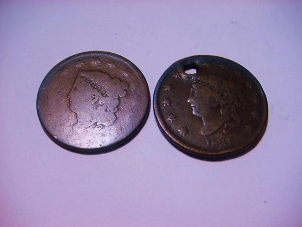 1827 AND  1831 LARGE CENTS