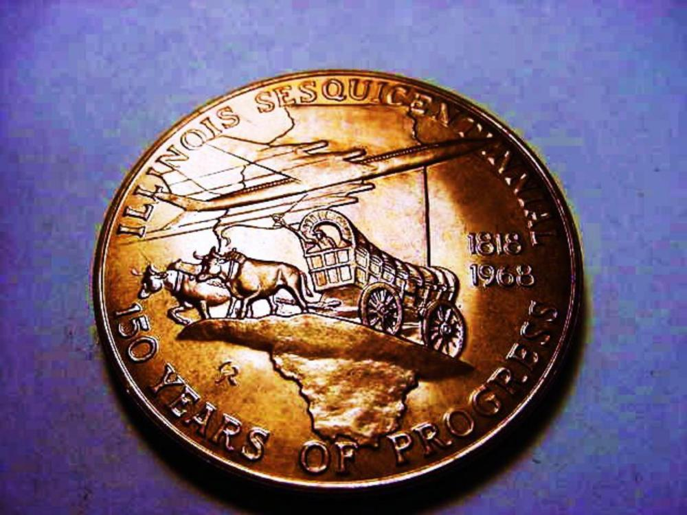 1968 ILLINOIS MEDAL BY GILROY ROBERTS