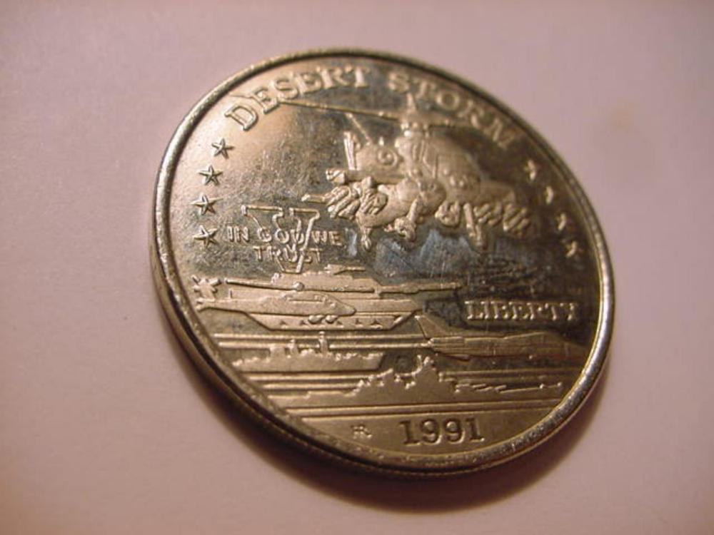1991 HUTT RIVER DESERT STORM $5 COIN