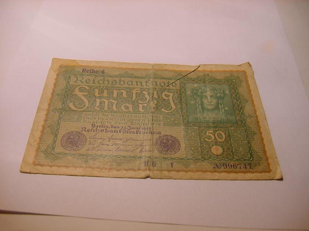 1919 GERMANY 50 MARK BANKNOTE