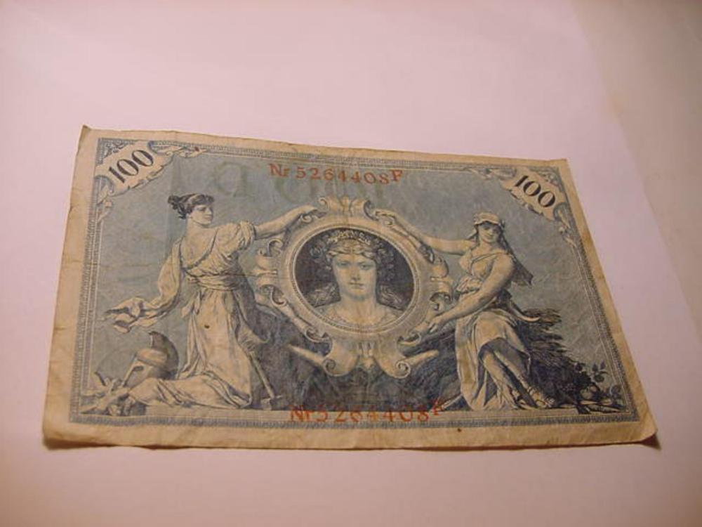 1908 GERMANY 100 MARK BANKNOTE