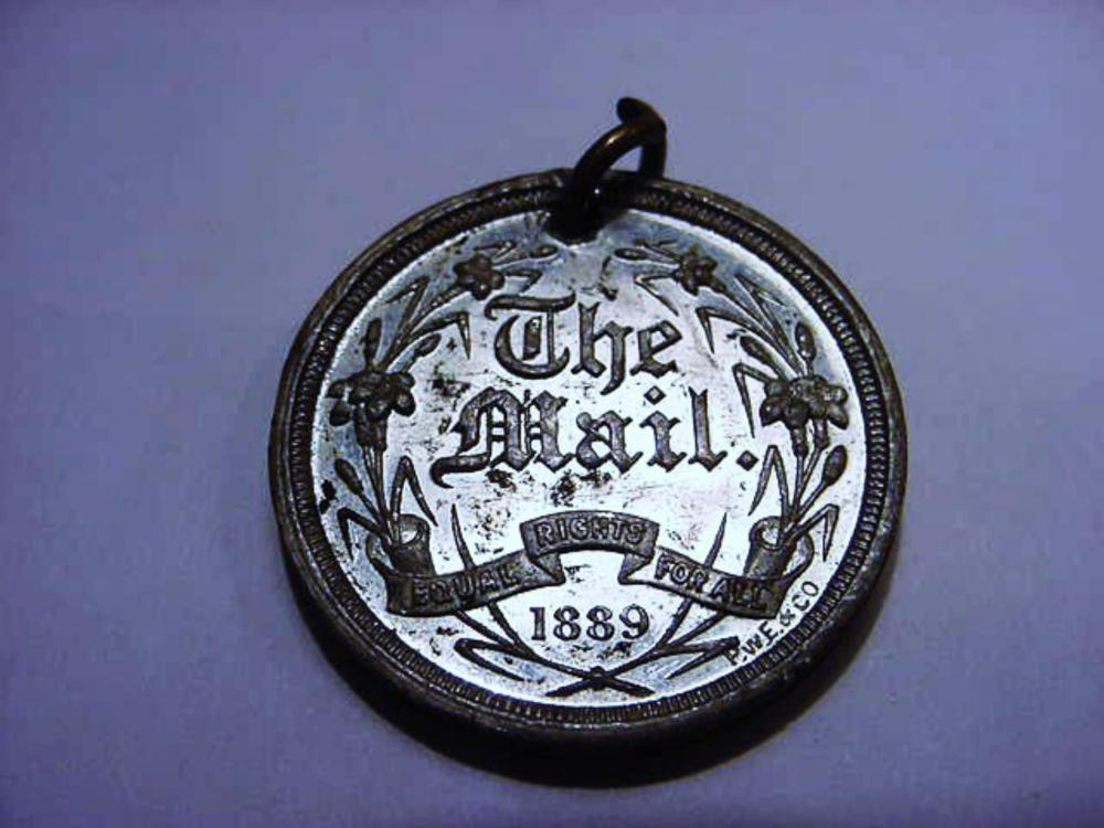 """1889 """"THE MAIL"""" MEDAL"""