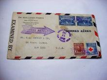 1942 HONDURAS EXAMINED AIRMAIL COVER