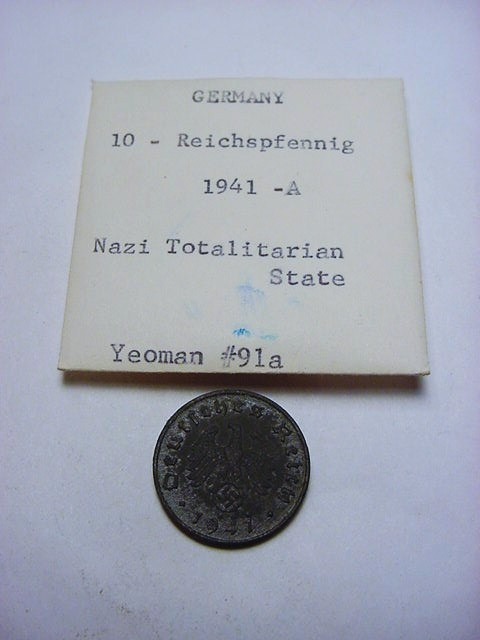 1941 A NAZI GERMAN 10 REICHSPFENNIG