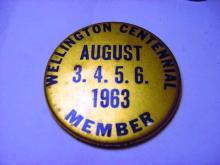 1963 WELLINGTON CENTENIAL BUTTON