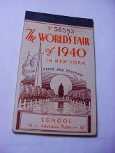 1940 NEW YORK WORLDS FAIR TICKET BOOKLET