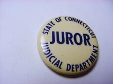 STATE OF CT. JUDICIAL  DEPARTMENT JUROR BUTTON