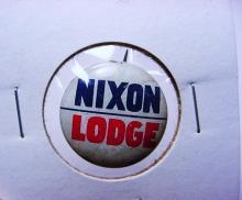 NIXON LODGE CAMPAIGN BUTTON