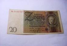 1924 GERMANY 20 MARK BANKNOTE
