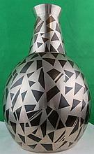 ArtDeco inlaid Vase ,signed Georgy w/J. Douse seal