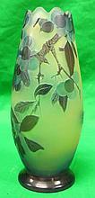 Galle Vase (Original) Cameo Glass H: 7