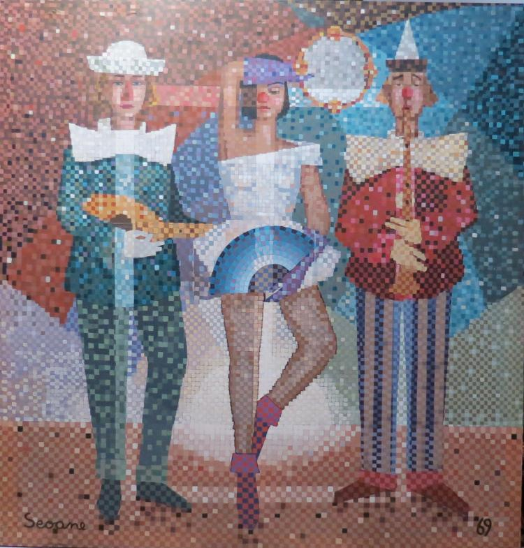 Luis Seoane Oil on Canvas 83