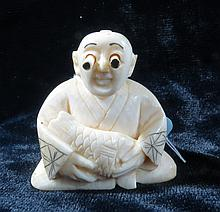 Old Ivory Netsuke Popping Eyes