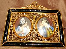 Miniature Bronze  Picture Frame , France 1890