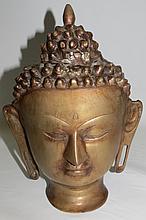 Bronze Buddah Head  H-9'' W-7