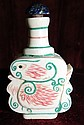 Ivory Snuff Bottle Excellent Carving H: 2.5