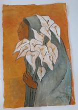 Diego Rivera - Watercolor on paper (Rough draft) COA 19