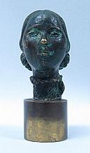 Bronze Seal of a Lady's head  h-2.6