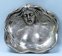 Art Nouveau Plate with figure of woman Dia.4