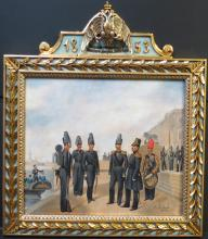 Russian Military presentation plaque 1853 by A.I.Gebens 11