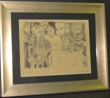 Pablo Picasso - Ink on paper - COA - 13