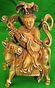 Old Ivory sculpture ,Lady on Horse w/Mandolin