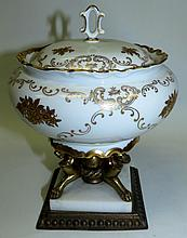 Porcelain Bronze and Marble Bomboniere