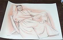 Zuniga Pastel on Paper , 1978.