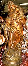 M.Moreau Bronze Sculpture ,Medaille D'honneur