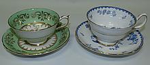 English China cups and saucers Hamilton, Paragon
