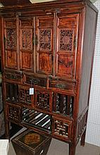 Antique Chinese Kitchen Armoire Circa 1900