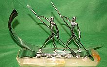 Hagenauer Bronze Figure Marble Base