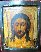 Russian Icon Oil over wood 1850