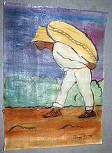 Diego Rivera Gouache over paper, rough draft .