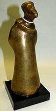Shay Rieger Sculpture in Bronze, Rabbi, signed