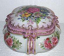 Meissen Jewelry Box , Flowers Adornment