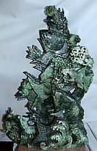 Jade Sculpture with Jadeite , Chinese Carps.