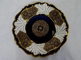 Porcelain Plate Weimar Germany Cobalt Blue