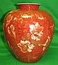 Rosenthal Porcelain Vase with Flowers H: 11