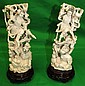 Pair of Ivory Sculptures of Warriors 19th Century
