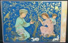 Hibel - Porcelain Plaque - Bavaria Germany 11.5