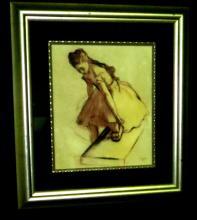 E. Degas - Pastel on paper - Dedicated - 13