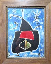 Joan Miro - Gouache on Paper - COA 11