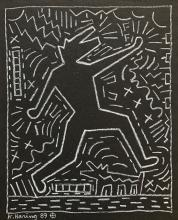 Keith Haring - 1989 Pencil on paper 11.3